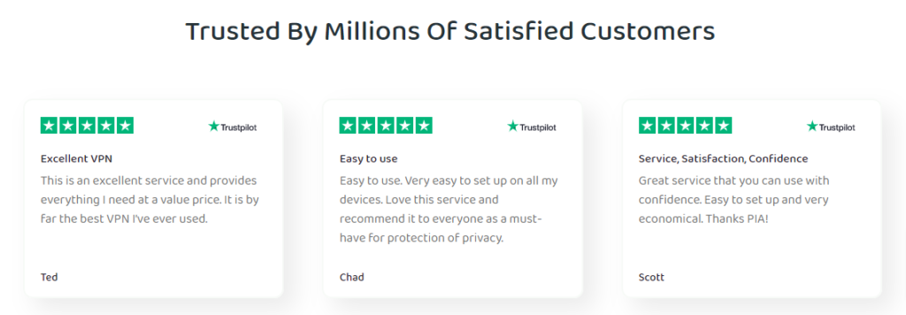 Trusted By Millions Of Satisfied Customers